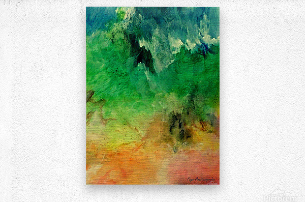 Forest Mountains  Metal print