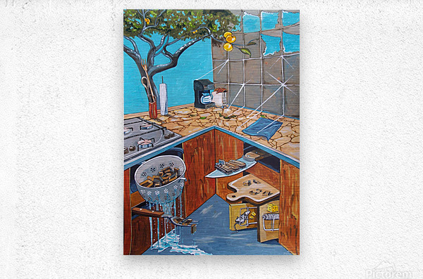 visions lurking in common places  Metal print