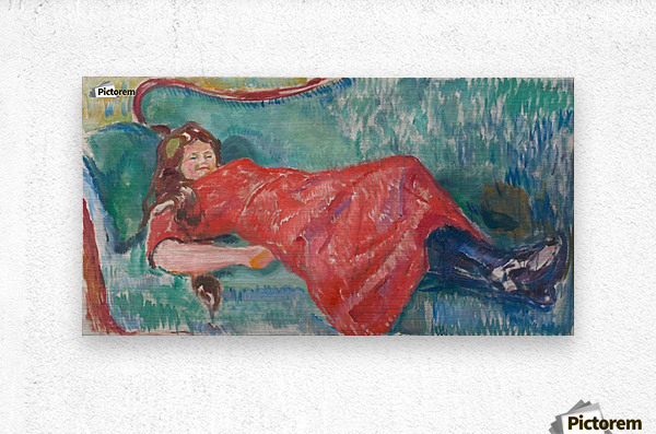 On the Sofa  Metal print