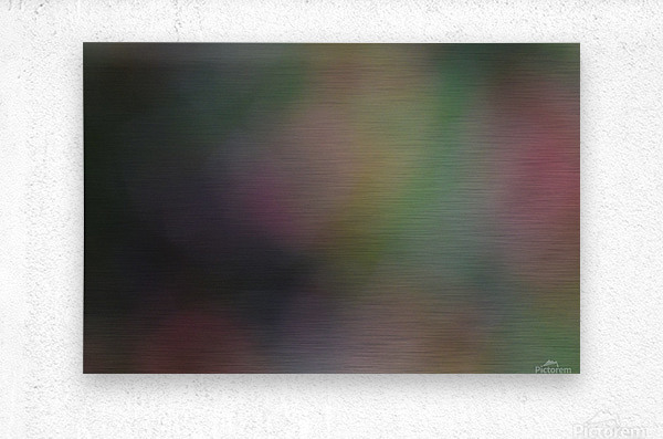 Abstract Art Photograph Bokeh - Red White Yellow and Green  Metal print
