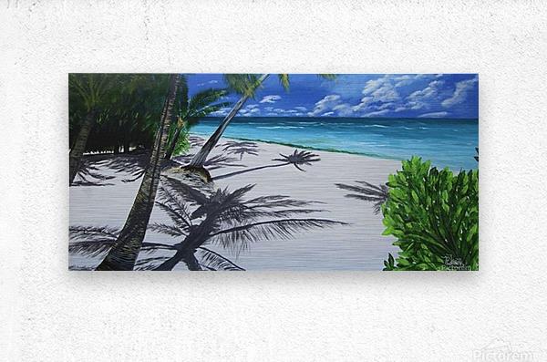 Shadow Beach by Robert Clark  Metal print