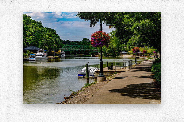 Erie Canal Vacation  Metal print