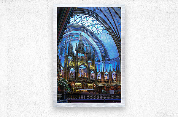 Basilique Notre-Dame Montréal  Metal print