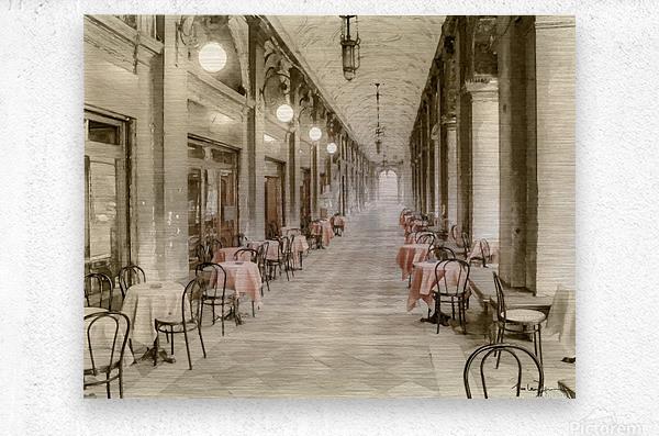 Café Place Saint-Marc Venise  Metal print