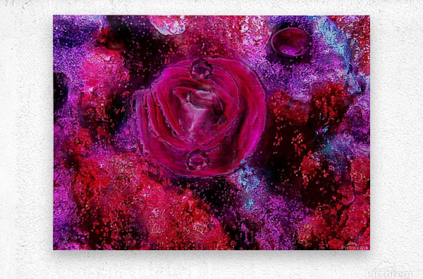 Rose me up  Metal print