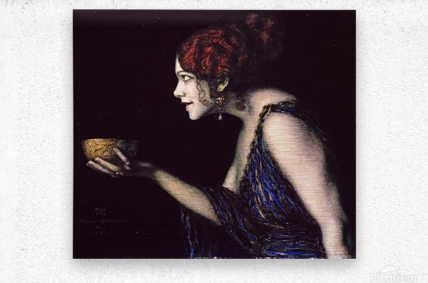 Tilla Durieux as Circe by Franz von Stuck  Metal print
