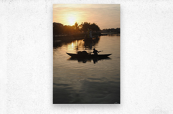 Asian Fishin  Metal print