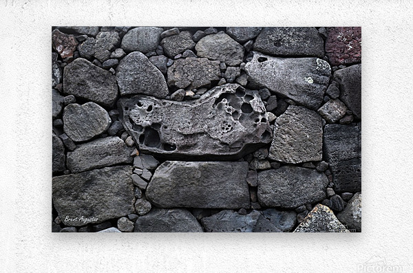 Lava brick  Metal print