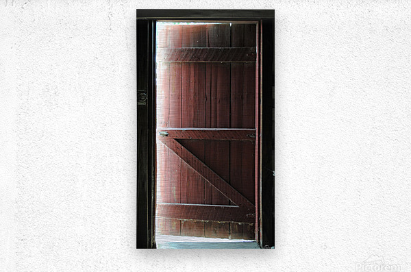 Barn Doors Open  Metal print