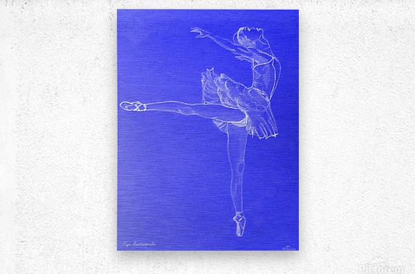 Celestial Ballerina  Metal print
