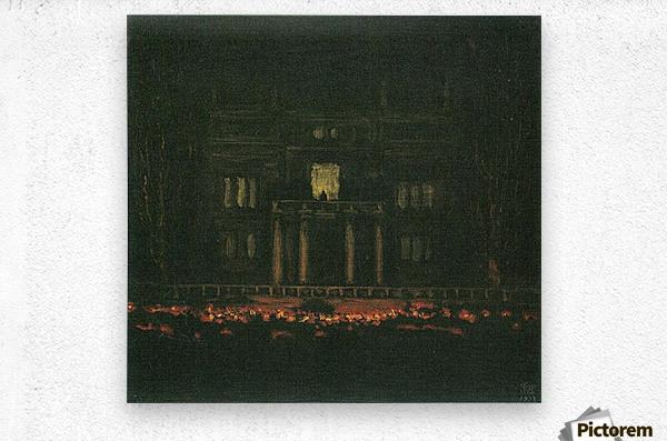 Torches by Franz von Stuck  Metal print