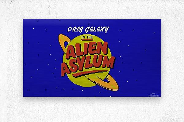 alien asylum  Metal print