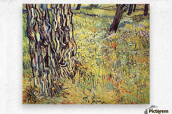 Tree trunks by Van Gogh  Metal print