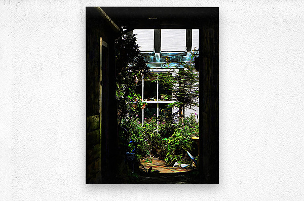 The Secret Courtyard  Metal print