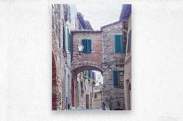 Alleyway Cetona Tuscany  Metal print