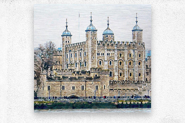 Tower of London 2  Metal print