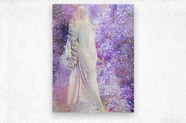 An Angel Awaits  Metal print