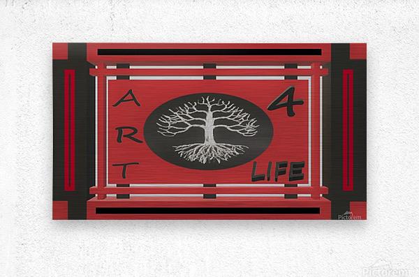ART 4 LIFE UNIVERSAL WAR FLAG  Metal print