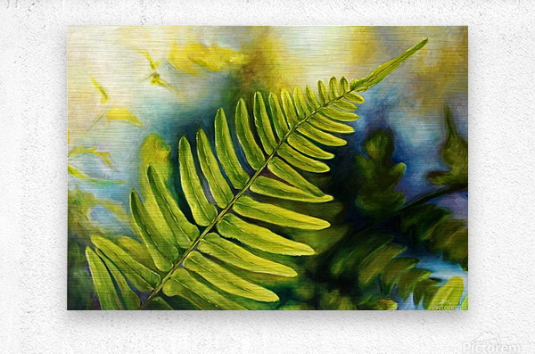Fern Night  Metal print
