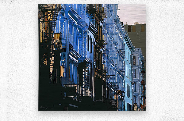 New York - SoHo   Metal print