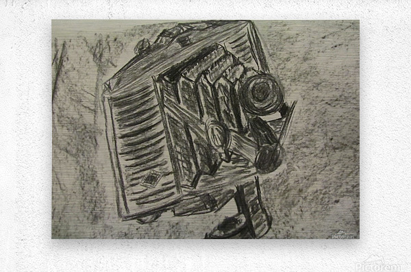 Old School Camera  Metal print