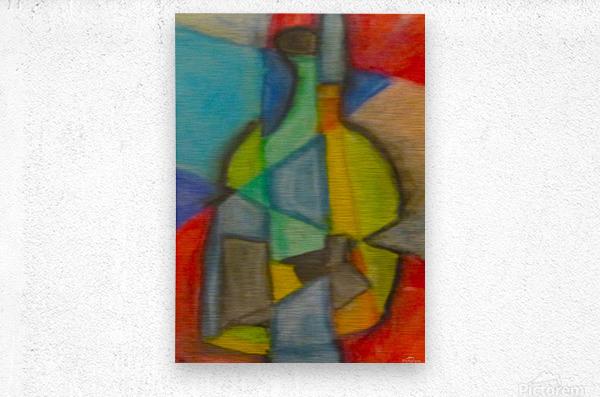 Cubist Bottle  Metal print