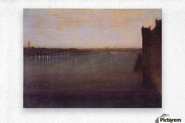 Nocturne in gray and gold, Westminster Bridge by James Abbot McNeill Whistler  Metal print