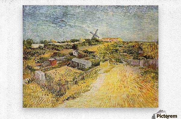Vegetable Gardens in Montmartre by Van Gogh  Metal print