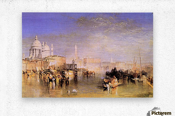 Venice from the canal by Joseph Mallord Turner  Metal print