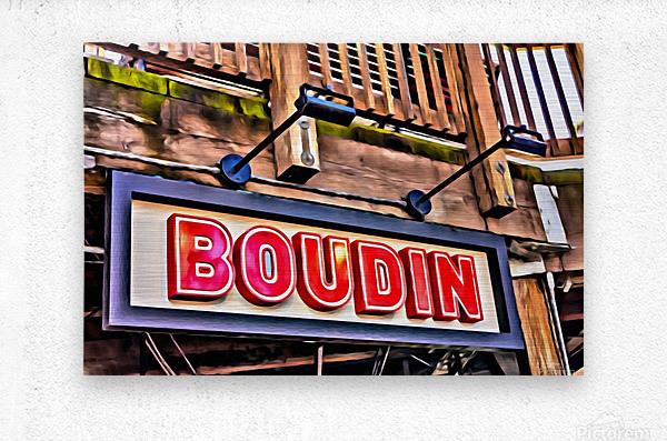 Boudin Bakery Sign  Metal print