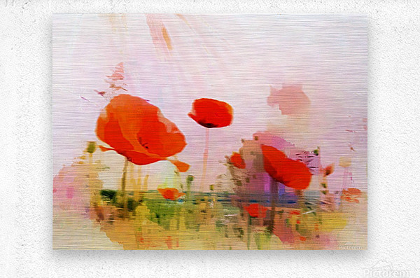 Poppies In Impression  Metal print
