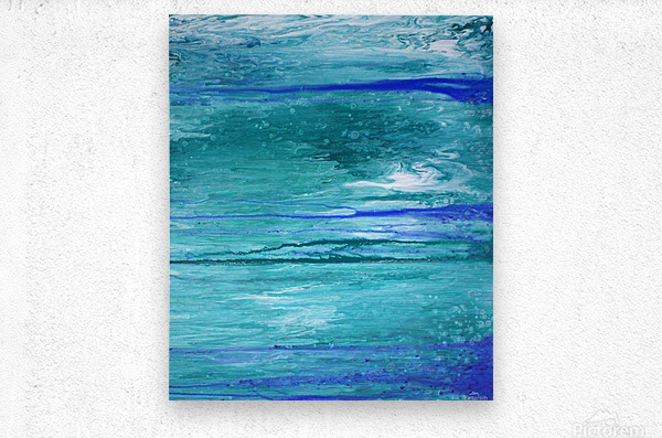 Abstract in Blues and Greens  Metal print
