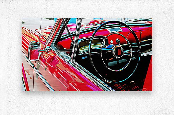 Fiat 1100 D Through The Window  Metal print