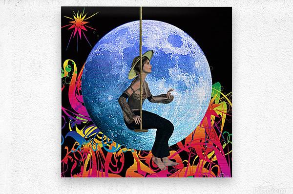 Moon Dream  Metal print