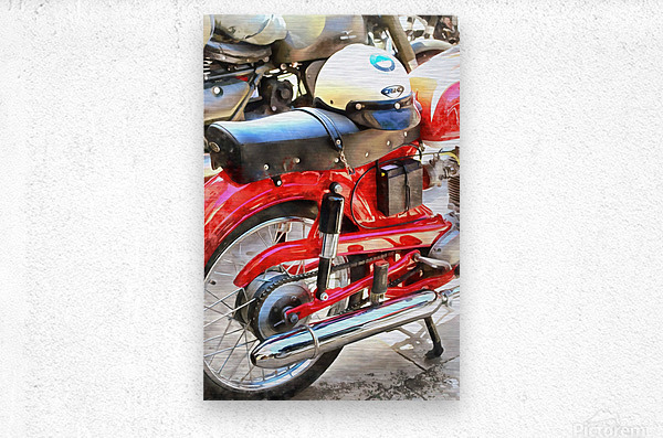 Neatly Parked  Metal print