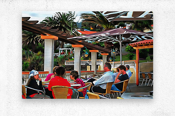 Bar In Funchal Madeira  Metal print
