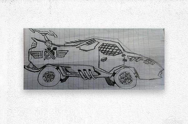 Off Road Super Car  Metal print