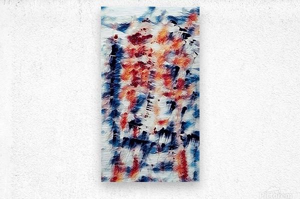 Abstract Brush Strokes  Metal print