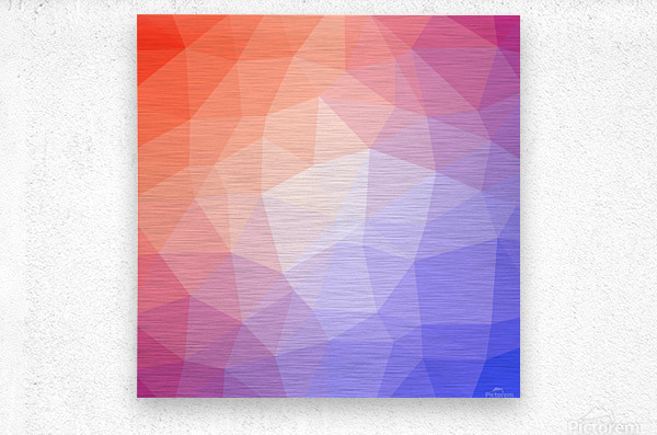 Abstract art patterns low poly polygon 3D backgrounds, textures, and vectors (8)  Metal print