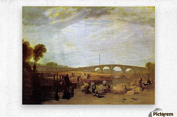 Walten bridges by Joseph Mallord Turner  Metal print