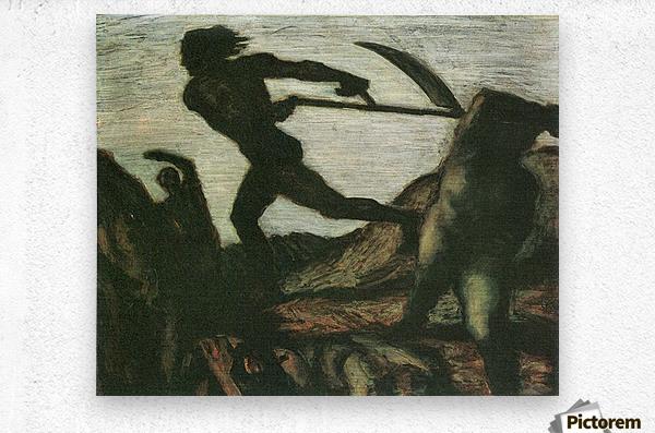 Warrior by Franz von Stuck  Metal print
