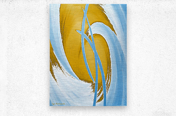 Energy Flow  Metal print