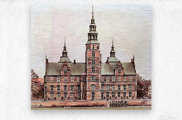 Rosenborg Castle Copenhagen  Metal print