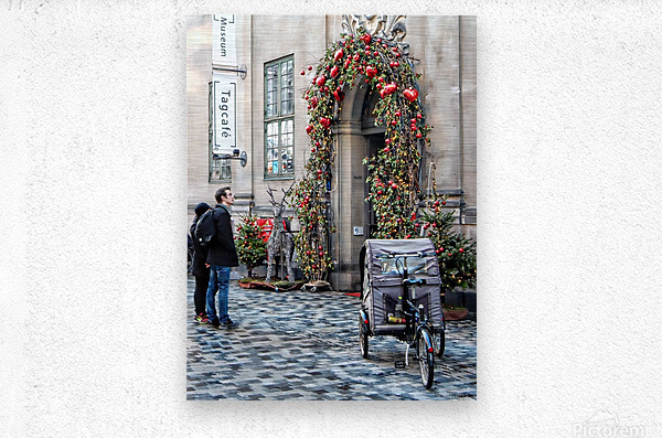 Christmas at a Museum Copenhagen  Metal print