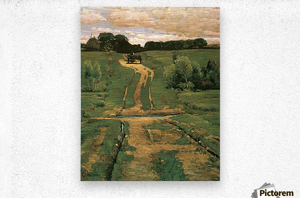 Open land by Hassam  Metal print