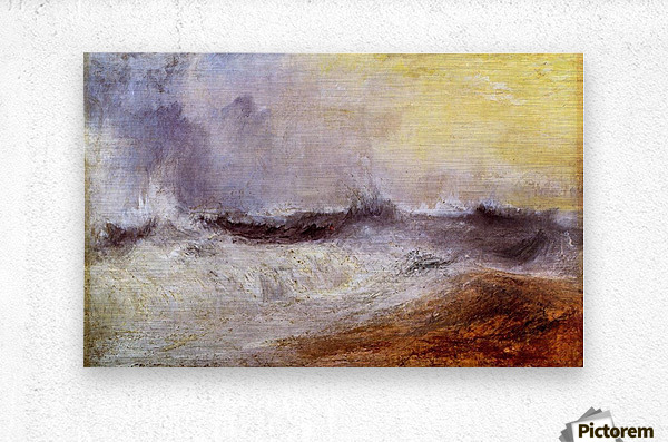 Waves breaking against the wind by Joseph Mallord Turner  Metal print
