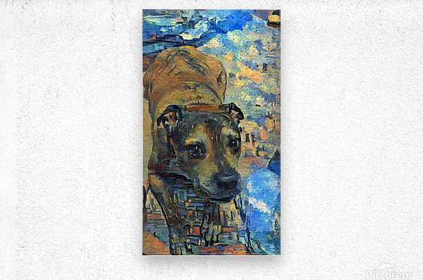 Dog Painting (17)  Metal print
