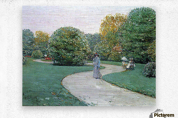 Parc Moneceaux, Paris by Hassam  Metal print