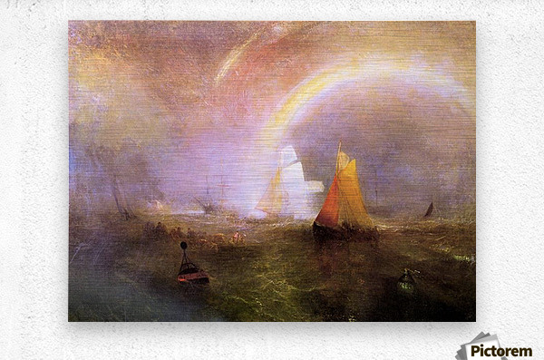 Wrecked bouys by Joseph Mallord Turner  Metal print