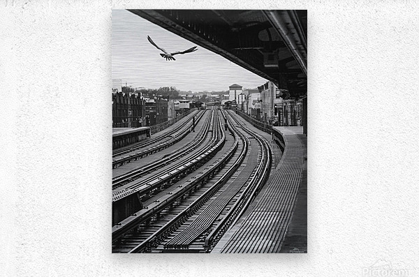 Station de métro - Brooklyn  Metal print